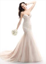 sexy vestidos de novia sirena 2014 tul encaje vestido de novia vestido de novia envío rápido(China (Mainland))