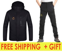 new fashion men sets jackets + softshel lpants outdoor camping hiking skiing warm sports hoodies A+++ winter autumn on sale