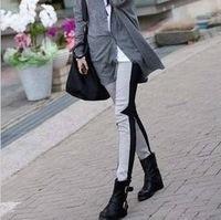 big size Drop Ship Lee Hyo Ri paragraph hit color stitching color pantyhose Leggings Fashion Girls