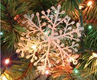 (30PCS/lot) Snowflake, Christmas supplies,Size 10x10cm, Christmas decoration, white color, Christmas hanging decoration,3PCS/Bag