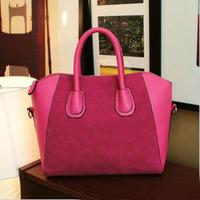 European&American style,2014 matte leather stitching Large capacity bag Women's Clutches Handbag Shoulder Bag PU/nubuck lady bag