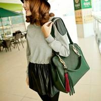2014 new European&American style Women's fashion Messenger Bags casual retro Lingge shoulder bag PU fringed Handbag Bag