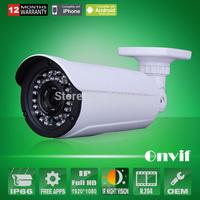 Blue Iris Onvif H.264 2.0 MegaPixel 1080P 1/2.5 Sony Sensor Network IP Camera 36 IR Waterproof Camera