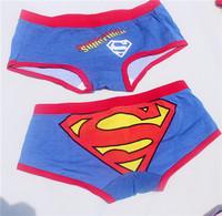 New Painted Printing Supermen Underwear For Girls,Girls Boxer Briefs Teenagers Bodyshort Panties MOQ 1pc