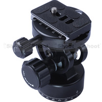All-metal 2D 360 Panning Panoramic Panorama Clamp Head Ballhead + Camera Quick Release Plate for Tripod Monopod -CREATIVE