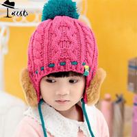 hat Hot Sale Fashion Trends New Concise All-match Ear Care 5 colors children caps (5pieces/lot ) winter caps MZ2116