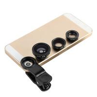 New Black 3 In 1 Universal Clip Mobile Lens Fisheye 0.65 Wide Micro Lens For Phones