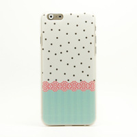 Free shipping new arrival hot selling lovely fresh back case for iphone 6 4.7'',6 kinds of color for choosing