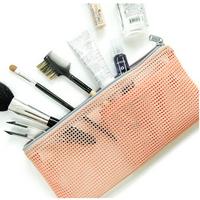 2014 Woman Toiletry Makeup Kit Storage Check Mash Cosmetic Bag Picnic Wash Handbag Korea Multifunctional Organizer Travel Bag