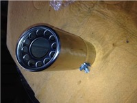 UNIVERSAL Tip 5.8cm Inlet Silver Stainless Steel Exhaust Resonator Muffler