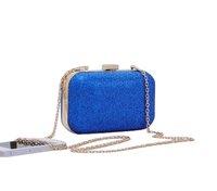 2014 new lady evening bag hand box cross-section flash pearl chain bag shoulder bag Messenger bag evening