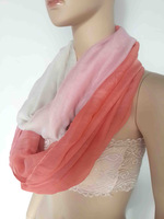 10pcs/lot Color Shade Ombre Print Infinity Loop Scarf Women's Accessories, Free Shipping