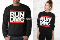 New fashion RUN DMC sweatshirt hoodies cotton casual men's clothing hoodie print sweats sportswear hip hop o neck clothes man
