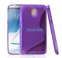 For Samsung Galaxy Note3 S Curve soft TPU Shell Case for Samsung Note3 Promotional price+DHL Free Shipping