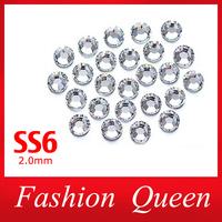 SS6 Clear Rhinestones,1440pcs/pack 2mm Flat Back non-hotfix Glitter Glass Nail Art,DIY Beauty Phone Nail Decoration Accessories