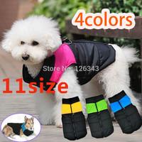 Comfortable Small Medium Large Big Pet Dog Clothes Winter Warm Vest Jacket Coat  Free Shipping 1pcs/lot