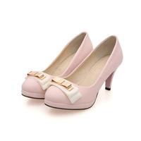 Fashion women high heel shoes bowknot Crude anti-skidding comfort sweet shoes Hot 2418