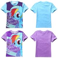 Wholesale! 2014 New Spring Autumn cartoon my little pony t-shirt cotton short-sleeve Casual Shirt sweatshirt Free shipping 9089