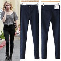 Womens Skinny Denim Stretch Leggings Woman High Waist Jeans Pants 6 Color