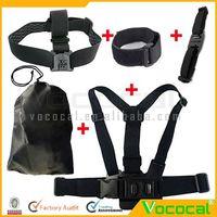 Gopro Accessories Head + Chest + Helmet Strap Belt Mount + Wifi Velcro Wrist Band W / Storage Bag for GoPro Hero 2 3