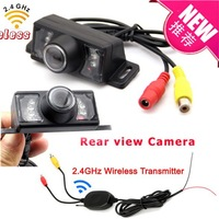2.4G Wireless Waterproof Car Rear View Camera For Vehicle Parking Reverse  With 7 IR Leds Night Vision+Transmitter + Receiver
