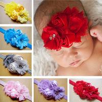 BabyAmour  Chiffon Flower Heeadband, Newborn Headband  10pcs/lot  free shipping