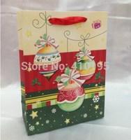 Free shipping 20pcs/lot 32*26*10cm Fashion chrismas gift paper bag,gift paper packaging bag