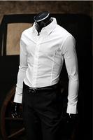 New 2014 Fall Winter Men Shirts Fashion Casual Pure Color Men lapel Shirt Free Shipping Promotions