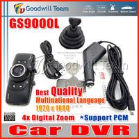 Full HD GS9000L Car DVR Video Registrator GS9000L Car Black Box 140 Degree Lens 2.7 Inch LCD Display G-Sensor  Digital Zoom