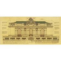 Vintage Style Retro Paper Nostalgic kraft  Poster Good Log Gift The New York Central Railway Station Decor