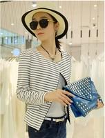 High Street blaser feminino Fashion Black White Striped Blazers Women ladies Coat Jackets Tops Leisure Suit women formal blazer