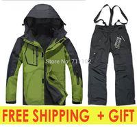 new men winter sets german jackets +pants coat outdoor climbing skiing sports removal hood plus size 3XL XXXL autumn fashion