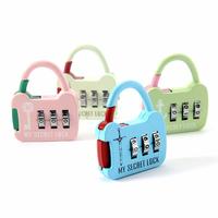 3 Digit Metal Combination Lock Password Number Security Plus Padlock for Luggage Zipper Bag Backpack Handbag Suitcase Drawer