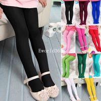 Fashion New kids Child Girls Toddler Pantyhose Stockings Skinny Cute Velvet Tights Leggings 11 Colors 45cm 50cm 60cm(fx295)