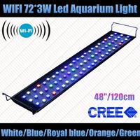 "WIFI 48"" 72*3W led aquarium led aquario+CREE Leds+90 degree lens+5 years warranty+6 Bands colors"