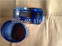 Tip 6.8cm Inlet Blue Stainless Steel Exhaust Resonator Muffler For Golf 7