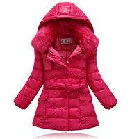 Girls Duck Down Coat Children's Jackets Coats Girl Outerwear & Jacket Kids Apparels Kid Winter Coat 2014 freeshipping