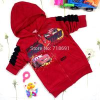 In Stock! Children Cars Hoodies, Kid cartoon soft autumn outwear boys red color long-sleeve coats 5pcs/lot d190