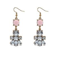 fashion Europe and America cute temperament CZ Diamond crystal gem Bear collar individuality metal women earring ear stud 110029