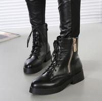 women 2014 winter autumn ankle heels platform boots shoes suede Rhinestone Bowtie boots Round Toes black yf823-18