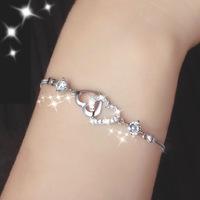 Ms natural amethyst sterling silver bracelet