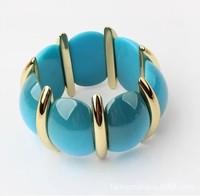 The European and American fashion bracelet  national wind multicolor tide joker elastic wide bracelets bracelets