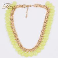 Colorful Multi Layer Bohemia Wrapped BIB Woven Jewelry Acrylic Statement Necklaces Pendants Women Accessories  #761