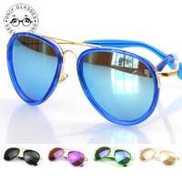 5 Colors High Quality Aviador Sunglasses Colorful Lens Glasses Oculos De Sol Feminino Sun Glasses Women Brand Designer