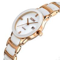 DOM sapphire  fashion simple waterproof 200meters wristwatch luxury Ceramic Women dress watch