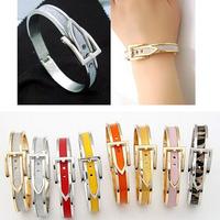 Ms elegant beautiful belt buckle frosted bangles Fashion bracelet