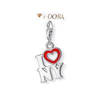 2014 Hot sell diy ts fashion charms silver plated enamel jewelry pendant letter charm for lovers  TS1368/TS1369