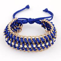 Korea edition style bracelet 3 color weave into the new super alloy bracelet