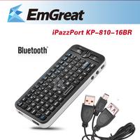 Bluetooth Wireless Keyboard Teclado iPazzPort KP-810-16BR + Silicone Sheath for iPhone Apple Fire Smart TV Smartphone P0014653