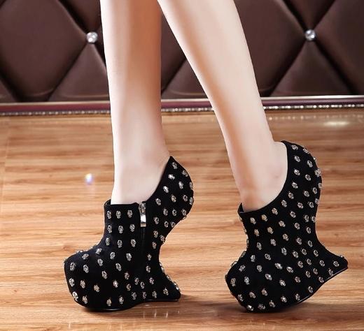 aliexpress popular no heel high heels in shoes